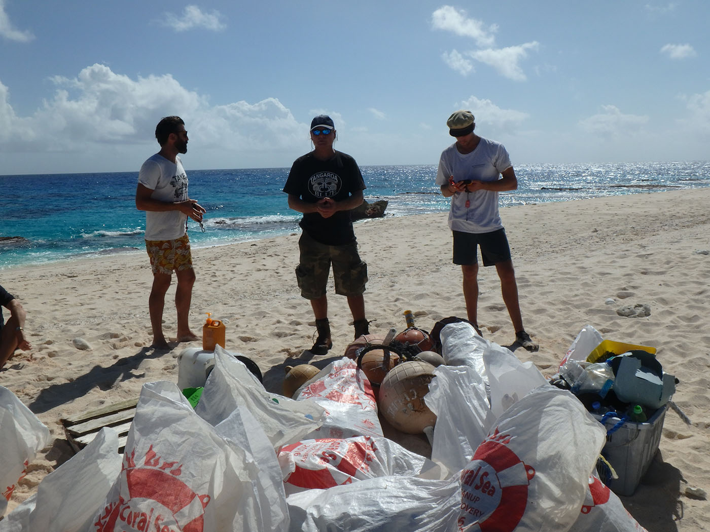 Marine debris collected from Coringa Islet