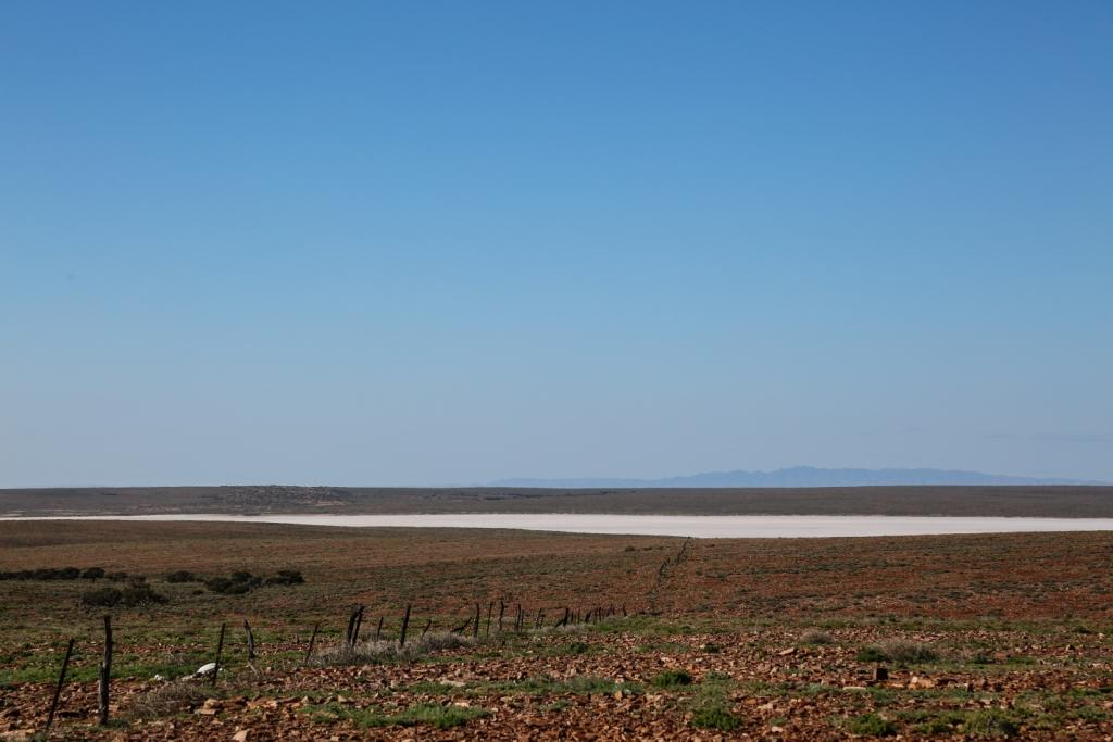 An arm of Lake Torrens – the closest I've come to the lake so far. The mountains in the distance are the Flinders Ranges.
