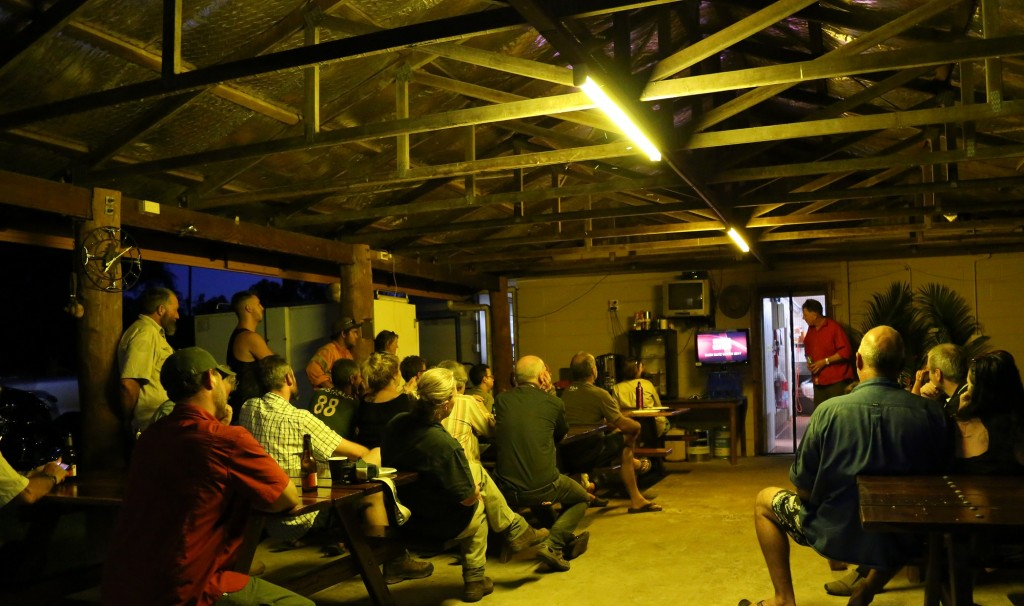 Laura locals enjoy Robert Whyte's video of the highlights so far