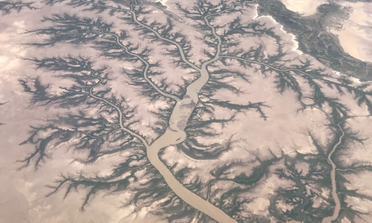 En route to Bradshaw we saw these beautiful patterns in the landscape. Image: Anna-Lisa Hayes