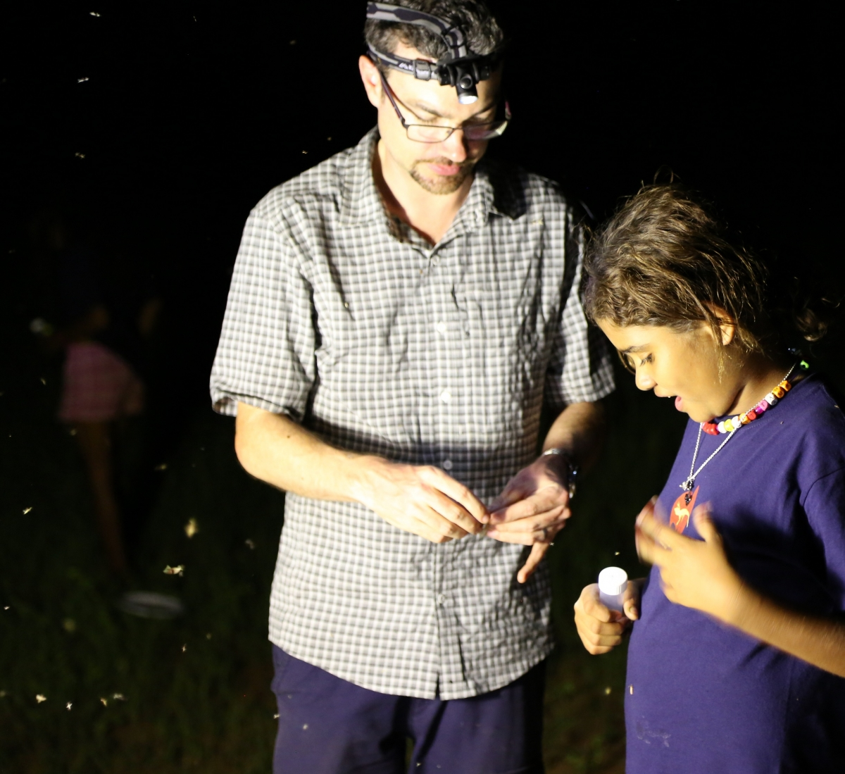 Collecting flying insects at Quinkan community day (image credit S. Nally)