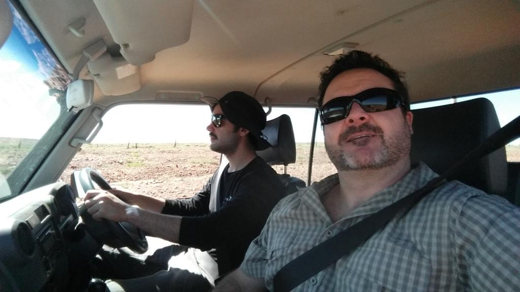 John and Pete driving Miss Daisy (or was it Miss Mary)