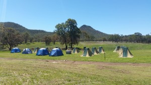 Tent city with Mt Lambert in background_BH
